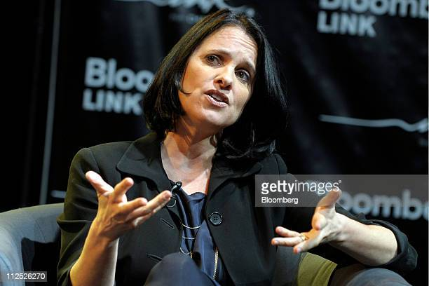 Ali Wing founder and chief executive officer of Giggle speaks at Bloomberg Link Empowered Entrepreneur Summit in New York US on Thursday April 14...
