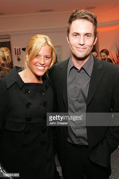 Ali Wise and Desmond Harrington during Byron Williams Celebrates the Launch of His New Product Line Byron by Byron Williams at Chateau Marmont in...