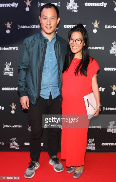 Ali Wong and guest attend the Just For Laughs Comedy Festival 2017 held at the Hyatt Regency on July 28 2017 in Montreal Canada