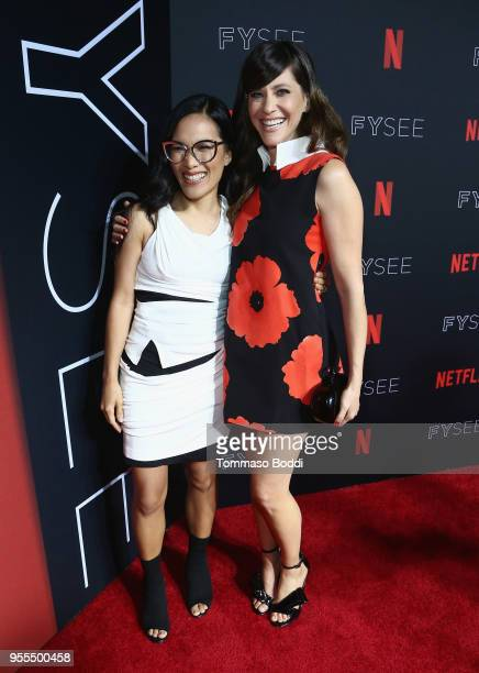 Ali Wong and Jackie Tohn attend the Netflix FYSEE KickOff at Netflix FYSEE At Raleigh Studios on May 6 2018 in Los Angeles California
