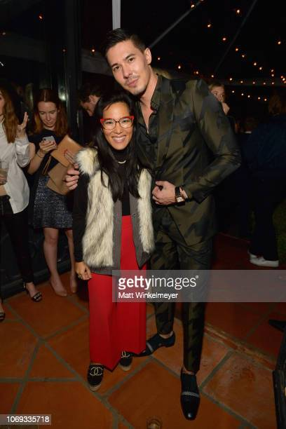 Ali Wong and Lewis Tan attend the 2018 GQ Men of the Year Party at a private residence on December 6 2018 in Beverly Hills California