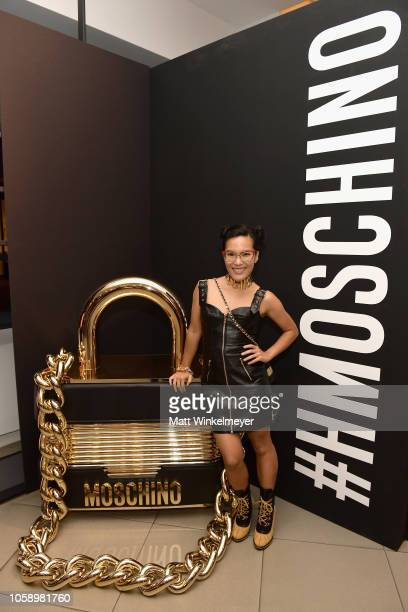 Ali Wong attends the Moschino x HM Los Angeles Launch Event at HM on November 7 2018 in Los Angeles California