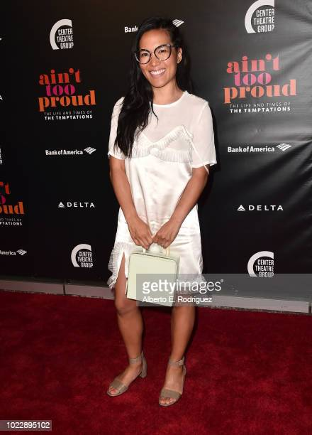 Ali Wong attends the Opening Night of 'Ain't Too Proud The Life And Times Of The Temptations' at the Ahmanson Theatre on August 24 2018 in Los...