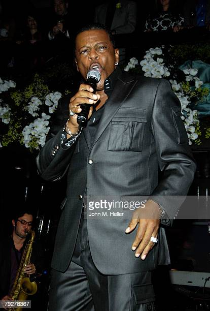 Ali Woodson performs at the 10th Anniversary of Crustacean Restaurant Beverly Hills on January 26 2008 in Beverly Hills California