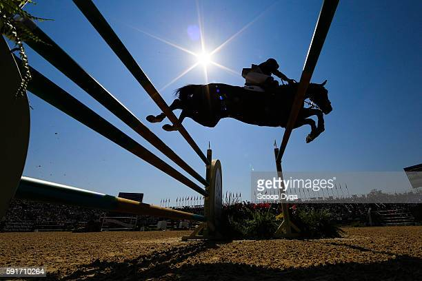 Ali Yousef AL RUMAIHI of Qatar rides GUNDER during Equestrian on Olympic Games 2016 in Rio at Olympic Equestrian Centre on August 17 2016 in Rio de...