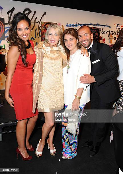 HRH Alia AlSenussi Yolana Vainio Mariam Eisler and Abdullah AlTurki attend the ICA fundraising gala at ICA on June 11 2014 in London England