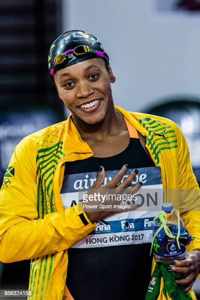 Alia Atkinson of Jamaica during the FINA Swimming World Cup Women's 50m Butterfly Final on October 01 2017 in Hong Kong Hong Kong