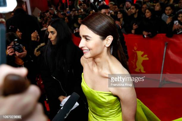 Alia Bhatt arrives in Audi etron car for the Gully Boy premiere during the 69th Berlinale International Film Festival at FriedrichstadtPalast on...