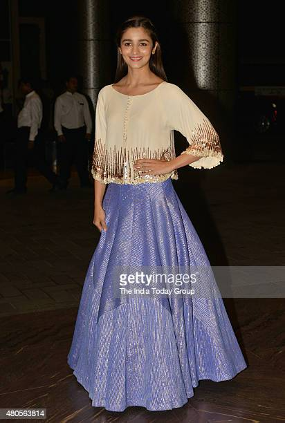 Alia Bhatt at the wedding reception of Shahid Kapur and Mira Rajput in Mumbai