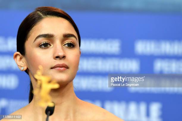 Alia Bhatt attends the Gully Boy press conference during the 69th Berlinale International Film Festival Berlin at Grand Hyatt Hotel on February 09...