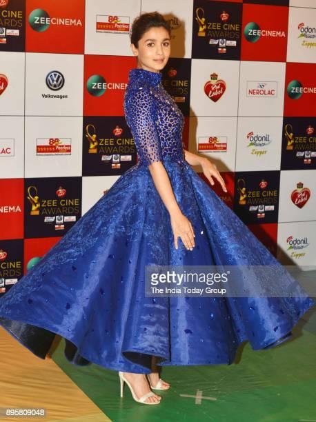 Alia Bhatt attends Zee Cine Awards 2018 held at MMRDA Grounds in Mumbai