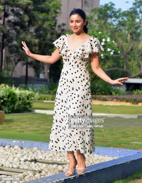 Alia Bhatt during the promotion of her upcoming movie 'Raazi' at Dharma office in Mumbai