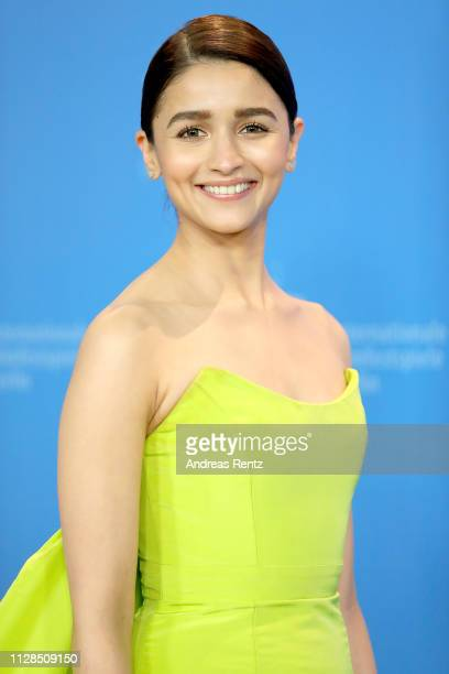 Alia Bhatt poses at the Gully Boy photocall during the 69th Berlinale International Film Festival Berlin at Grand Hyatt Hotel on February 09 2019 in...