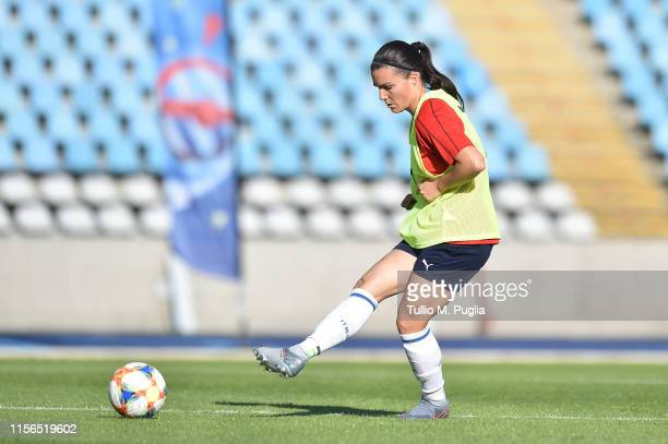 Alia Guagni of Italy Women in action during a training session at Stadium Lille Metropole on June 17, 2019 in in Villeneuve d'Ascq near Lille, France.