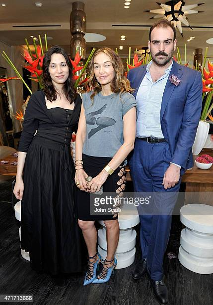 Alia Raza Ezra Woods and Kelly Wearstler celebrate the launch of Regime des Fleurs perfume at Kelly Wearstler Flagship Boutique in Los Angeles with...