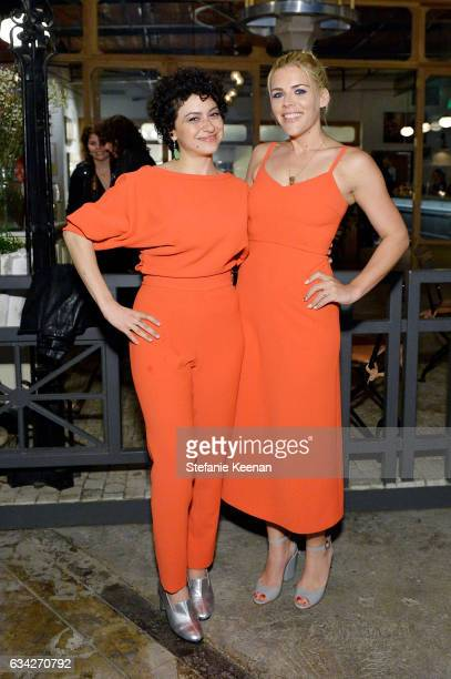 Alia Shawkat and Busy Philipps attend Rachel Comey Fall Winter 2017 Collection Presentation on February 7 2017 in Los Angeles California