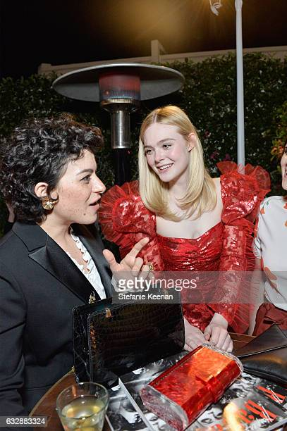 Alia Shawkat and Elle Fanning attend Harper's BAZAAR celebration of the 150 Most Fashionable Women presented by TUMI in partnership with American...