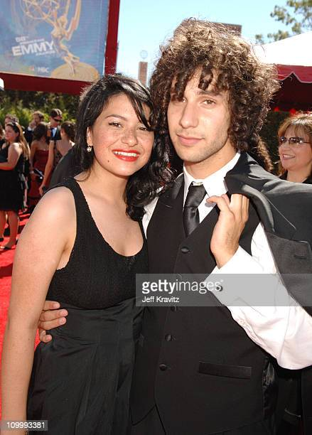 Alia Shawkat and guest during 58th Annual Primetime Emmy Awards Red Carpet at The Shrine Auditorium in Los Angeles California United States