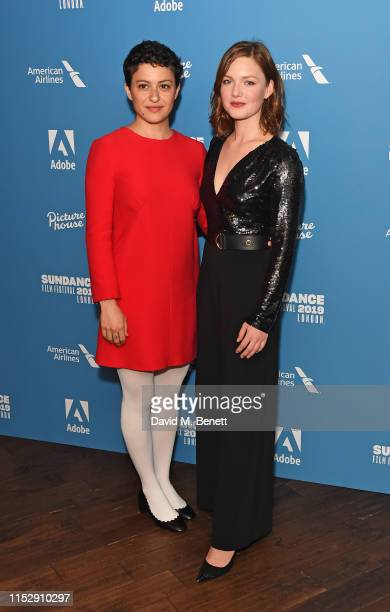 Alia Shawkat and Holliday Grainger attend the European Premiere of Animals during the Sundance Film Festival 2019 London at the Picturehouse Central...