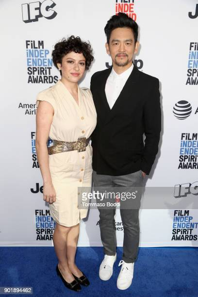 Alia Shawkat and John Cho attend the Film Independent Spirit Awards Nominee Brunch at BOA Steakhouse on January 6 2018 in West Hollywood California