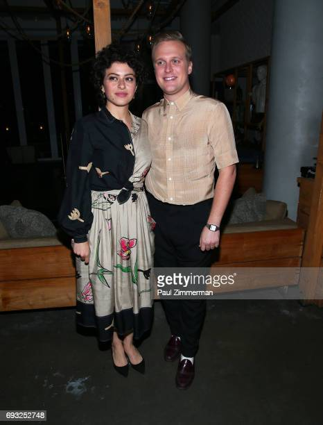 """Alia Shawkat and John Early attend the Gucci & The Cinema Society after party of Roadside Attractions' """"Beatriz At Dinner"""" at Mr. Purple on June 6,..."""