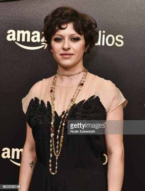 Alia Shawkat arrives at the Amazon Studios Golden Globes Celebration at The Beverly Hilton Hotel on January 7 2018 in Beverly Hills California