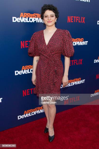 Alia Shawkat arrives for the premiere of Netflix's Arrested Development Season 5 at Netflix FYSee Theater on May 17 2018 in Los Angeles California