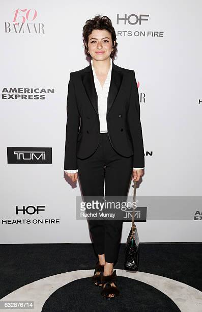 Alia Shawkat attends Harper's BAZAAR celebration of the 150 Most Fashionable Women presented by TUMI in partnership with American Express La Perla...