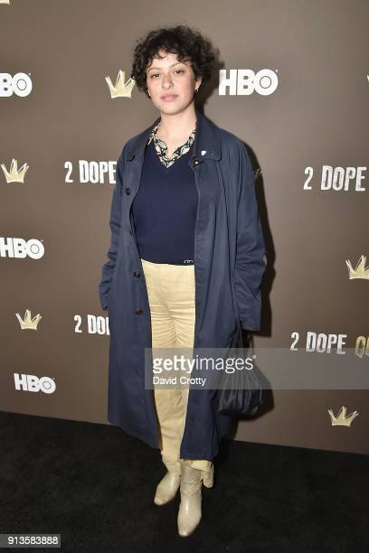 Alia Shawkat attends HBO's '2 Dope Queens' Los Angeles Slumber Party Premiere at NeueHouse Hollywood on February 2 2018 in Los Angeles California