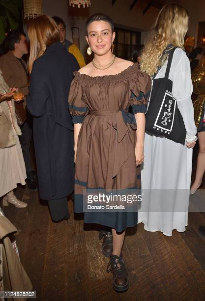 Alia Shawkat attends Liz Goldwyn and MATCHESFASHIONCOM celebrate the launch of Frieze LA at Gracias Madre on February 13 2019 in West Hollywood...