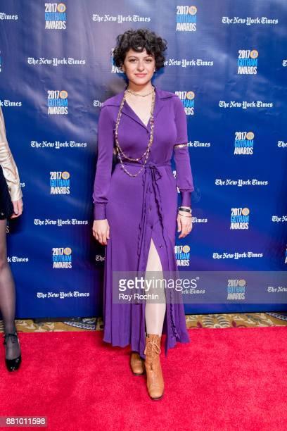 Alia Shawkat attends the 2017 IFP Gotham Awards at Cipriani Wall Street on November 27 2017 in New York City