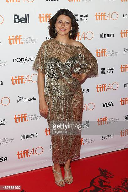 Alia Shawkat attends the 'Green Room/The Chickening' premiere at Ryerson Theatre during the 2015 Toronto International Film Festival on September 10...