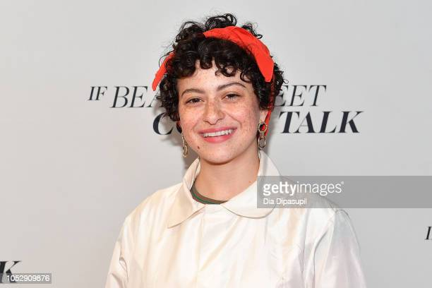 Alia Shawkat attends the If Beale Street Could Talk US premiere during the 56th New York Film Festival at The Apollo Theater on October 09 2018 in...