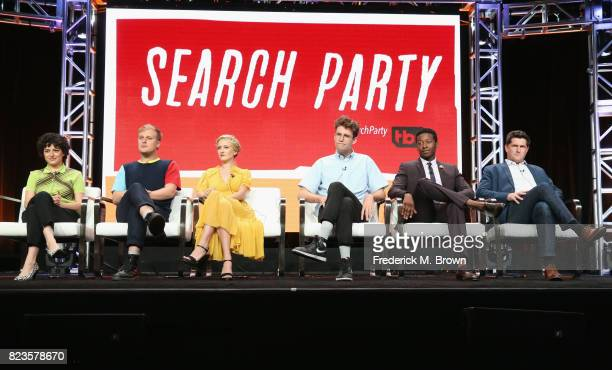 Alia Shawkat John Early Meredith Hagner John Reynolds Brandon Michael Hall and executive producer Michael Showalter of 'TBS/Search Party' speak...
