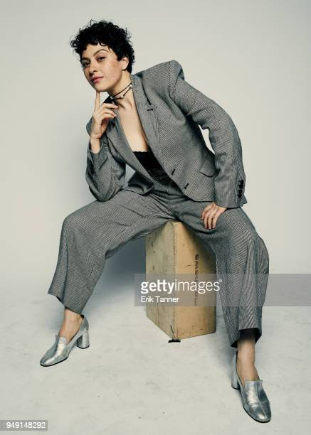 Alia Shawkat of the film Duck Butter poses for a portrait during the 2018 Tribeca Film Festival at Spring Studio on April 20 2018 in New York City