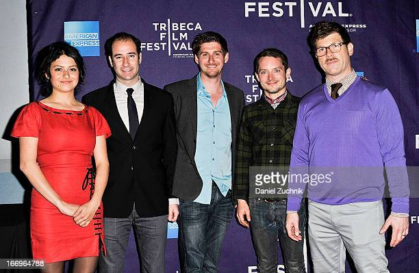 Alia Shawkat Rafael Marmor Chris Leggett Elijah Wood and David Schlussel attend the 'Worst Day Ever' Shorts Program during the 2013 Tribeca Film...