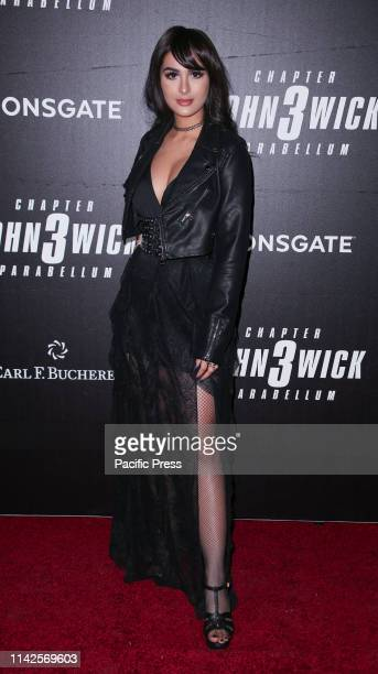 Alia Shelesh aka SSSniperWolf attends the John Wick Chapter 3 world premiere at One Hanson Place