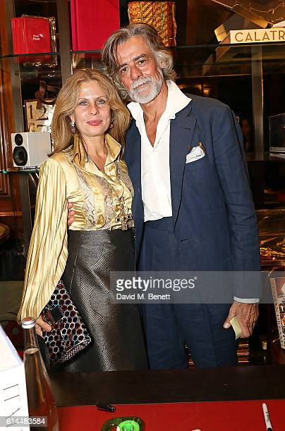 Aliai Forte and Gelasio Gaetani attend the launch of The Italian Dream Wine Heritage Soul at Maison Assouline on October 13 2016 in London England