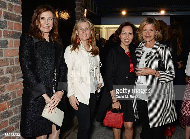 Aliai Forte and Warly Tomei attend a private view of Julian Schnabel Every Angel Has A Dark Side in aid of Chickenshed at The Dairy Art Centre on...