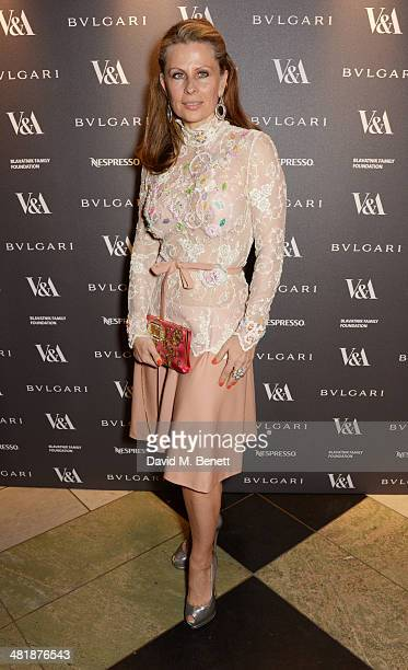 Aliai Forte attends a private dinner celebrating the Victoria and Albert Museum's new exhibition 'The Glamour Of Italian Fashion 1945 2014' at...