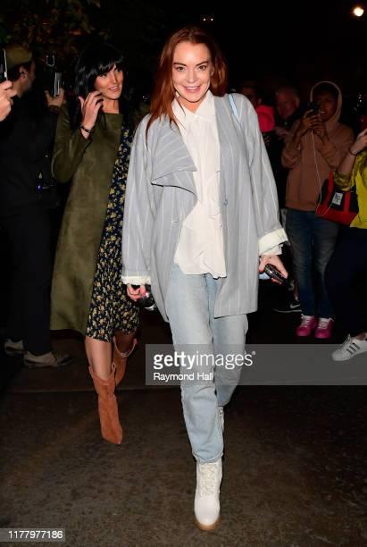 Aliana Lohan and Lindsay Lohan are seen in Soho on October 24 2019 in New York City