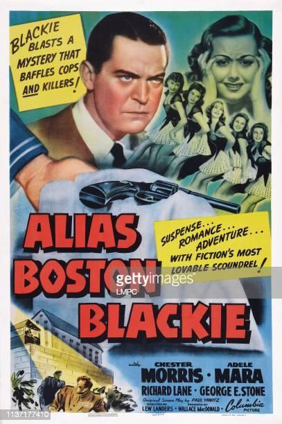 Alias Boston Blackie poster US poster art from left Chester Morris Adele Mara 1942