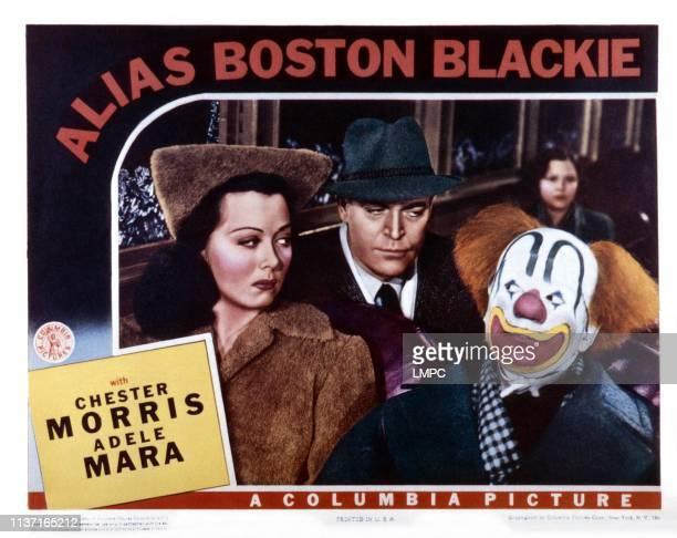 Alias Boston Blackie US lobbycard from left Adele Mara Chester Morris Larry Parks 1942