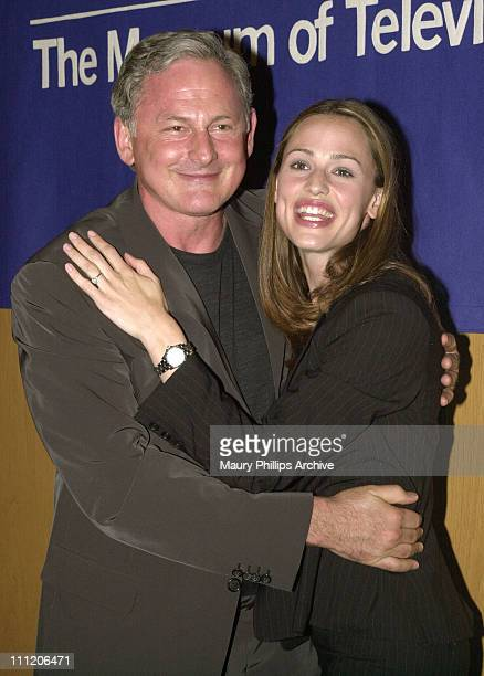 Alias stars Victor Garber and Jennifer Garner during The 19th Annual William S Paley Television Festival Alias at Museum of Television and Radio in...