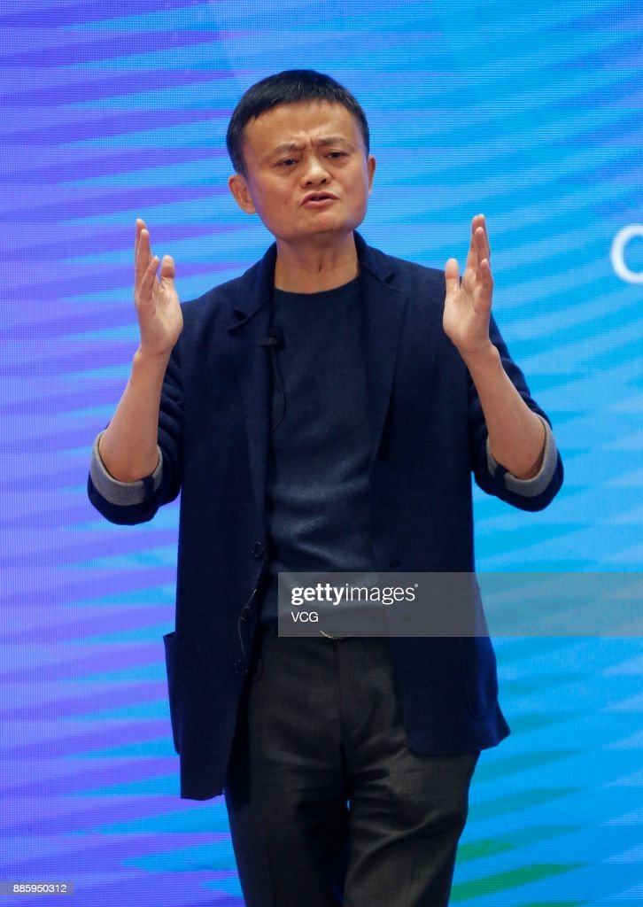 Alibaba chairman Jack Ma speaks at the 'Business Leaders Dialogue: New Economy in Internet Era' forum on day three of the 4th World Internet Conference on December 5, 2017 in Wuzhen, Zhejiang Province of China. The 4th World Internet Conference - Wuzhen Summit themed with 'Developing digital economy for openness and shared benefits -- building a community of common future in cyberspace.' is held from Dec 3 to 5 in Wuzhen of Zhejiang.