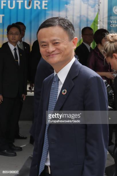 Alibaba founder and chairman Jack Ma, the richest person in China, during his visit to to the UN Headquarters in New York City, New York, September...