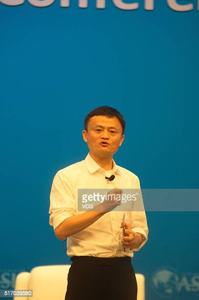 Alibaba Group Chairman Jack Ma speaks during the Boao Forum For Asia Annual Conference on March 23, 2016 in Qionghai, Hainan Province of China. The...