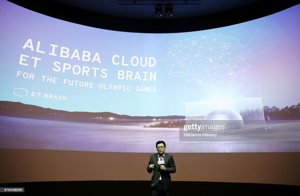 Alibaba Group CMO Chris Tung speaks during the opening of the Alibaba Group Showcase at the PyeongChang 2018 Winter Olympic Games on February 10, 2018 in Gangneung, South Korea.