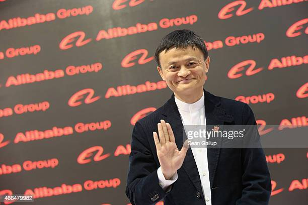Alibaba Group Executive Chairman Jack Ma attends the 2015 CeBIT technology trade fair on March 16 2015 in Hanover Germany China is this year's CeBIT...