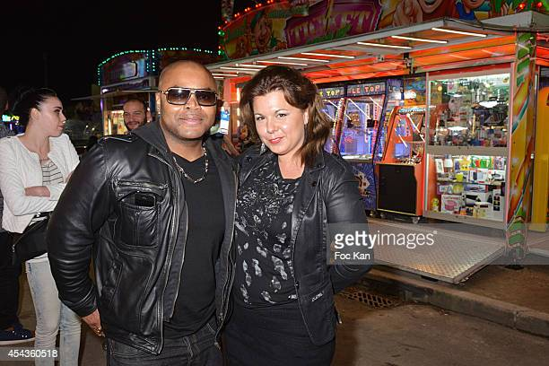 Alibi Montana and Cindy Lopes attend the 'Fete A Neu Neu' At Porte De La Muette on August 29 2014 in Paris France